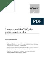 LAS NORMAS DE LA OMC Y LAS POLITICAS AMBIENTALES