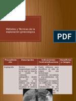 Tecnicos y Metodos Ginecologicas