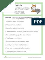 Grammar Basics Subject Predicate