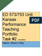 teaching ela- 5 unit lesson plan