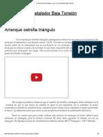 Arranque Estrella Triángulo _ Curso Carnet Instalador Baja Tensión