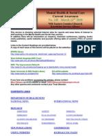 Mental Health Bulletin No. 245 March 22nd 2010