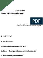 Pengertian Kebutuhan Zat Gizi Pada Wanita Hamil