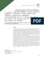 Control de la hipertensión arterial mediante el esquema de hemodiálisis