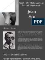 Artist Research - Jean Arp