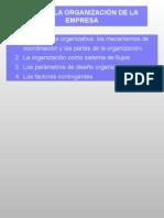 La Organizacion de La Empresa