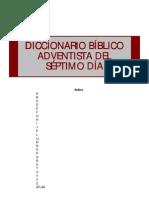 Diccionario Bíblico Adventista del Séptimo Día parte1