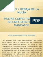 CALCULO Y REBAJA DE LA MULTA
