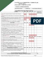 Pauta de Evaluación a La Cobertura Curricular - Lenguaje- 1º a 8º-Primer Semestre