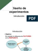 Introducción Al Diseño de Experimentos