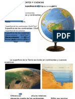 Continentes y Cuencas Oceanicas