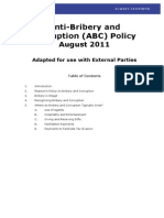 ABC Policy for External Parties Aug 2011 Final