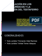 DER.CIV. III - SIMULACIÓN DE LOS ACTOS JURÍDICOS Y LA CONDICIÓN DEL TESTAFERRO