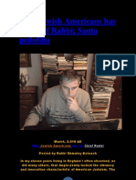 Why Jewish Americans Has No Chief Rabbi; Santa Pedofilia