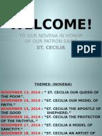 Santa Cecilia Novena hymn