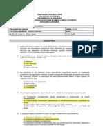 EXERCÍCIO MÉTODOS DE LAVRA À CÉU ABERTO