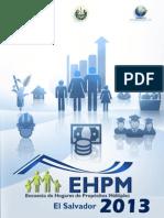 Encuesta de hogares de propósito múltiple (EHPM) El Salvador 2013