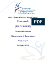 AD EHSMS RF - TG - Managament of Contractors