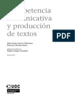 Competencia Comunicativa y Producción de Textos – Maria Josep Cuenca Ordinyana y Francesca Nicolau Fuster