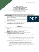 Curriculum Vitae Rev Nov 2015