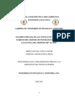 """""""EXAMEN ESPECIAL DE LAS CUENTAS DE INGRESOS Y EGRESOS DEL SISTEMA DE POSGRADOS DE LA ESPE LATACUNGA DEL PERÍODO 2007 AL 2010"""