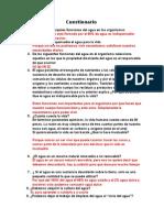 Cuestionario Del Agua UNAM