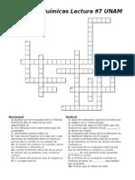 Fórmulas Químicas Crucigrama UNAM