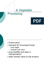 Fruits & Vegetable Processing