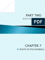Numerical Methods - PART 2 (Chapter 7)