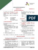 Semana Nº 04 - Sesión Nº 12 - División Algebraica - i - 2015-II(Ciclo Intensivo)