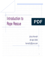 Rope Rescue Training Intro