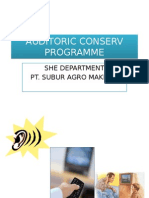 Auditoric Conserv Programme