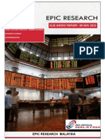 Epic Research Malaysia - Weekly KLSE Report From 9th November 2015 to 13th November 2015