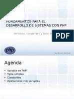 FDP 03 Variables, Constantes y Tipos de Datos