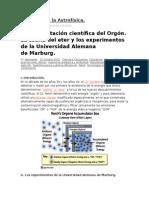 Fundamentación Científica Del Orgón.