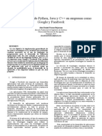 analisis de uso de python,java y c++ en empresas como google y facebook