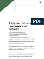 7 Principios Bíblicos Para Una Confrontación Edificante