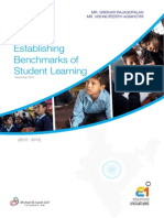 Establishing Benchmarks of Student Learning in India