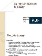 Analisa Protein Dengan Metode Lowry