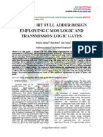 HYBRID 1 BIT FULL ADDER DESIGN EMPLOYING C MOS LOGIC AND TRANSMISSION LOGIC GATES