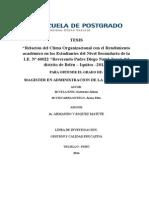 Relacion Del Clima Organizacional Con e