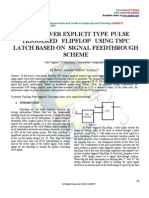 LOW POWER EXPLICIT TYPE PULSE TRIGGERED FLIPFLOP USING TSPC LATCH BASED ON SIGNAL FEEDTHROUGH SCHEME