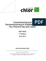 Commissioning and Decommissioning of Installations for Dry Chlorine Gas and Liquid