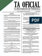 Sumario Gaceta Oficial 39.393