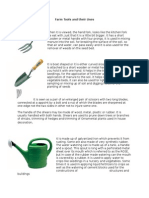 Farm Tools and Their Uses