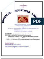 Prolect report of '' Material Management of Renusager Power Divison (Hindalco Industries Ltd.)""