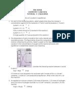Tutorial 3 & 4 - Equilibria & Application of Rates and Equilibrium