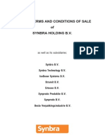 General Terms and Conditions of Sale Synbra