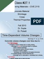 Class 27.1 CIVE 2110 Concrete Shrinkage Creep Thermal (2)