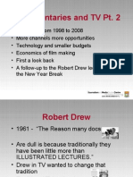 Documentary and TV ppt